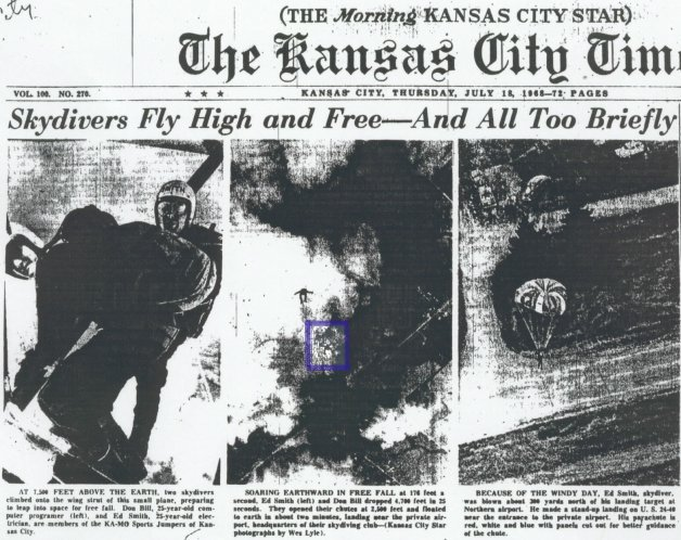 Front Page of The Kansas City Star, July 18, 1968